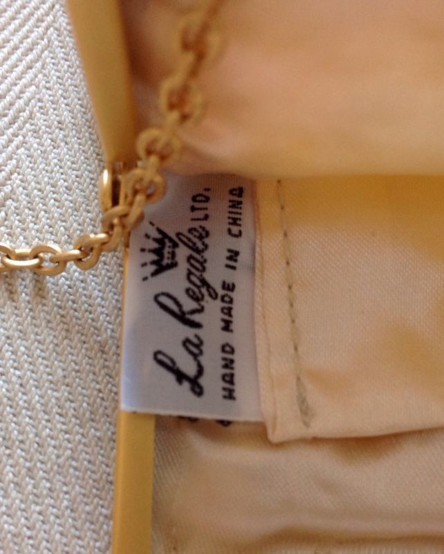 NEW La Regale Ivory Floral Beaded Handmade Occasion Bag Purse Gold Chain Small