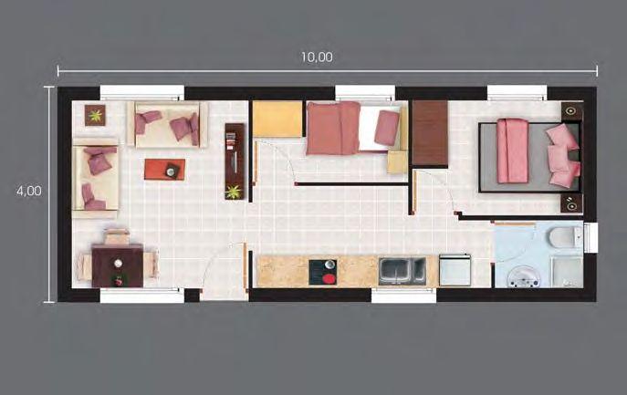 Planos de casas de drywall casas pinterest drywall for Planos de departamentos de 40m2