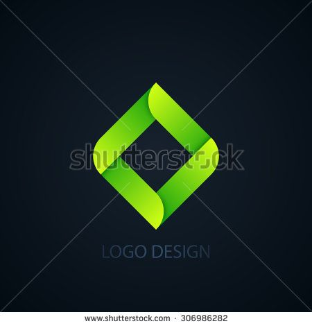 Vector illustration of abstract business logo squares.