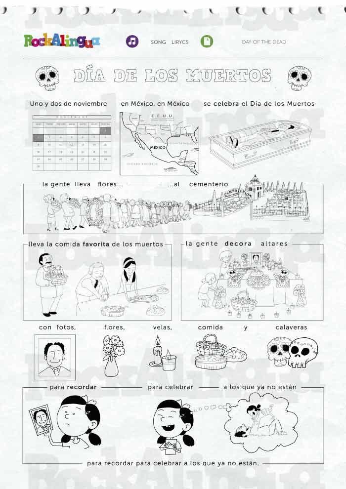 Cancion ; dia de muertos Rockalingua