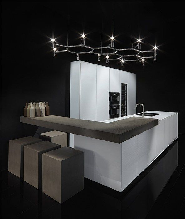 Cuisine linéaire en Corian® Collection One by RIFRA