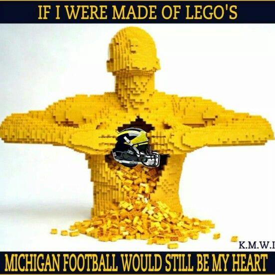 LEGO BLUE! | Michigan Wolverines | U of M Go Blue | University of Michigan