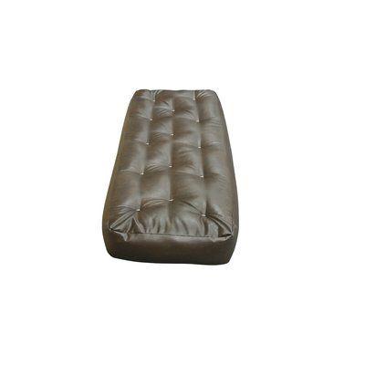 "6"" Foam and Cotton Ottoman Size Futon Mattress Upholstery: Dark Brown - http://delanico.com/futons/6-foam-and-cotton-ottoman-size-futon-mattress-upholstery-dark-brown-758132350/"
