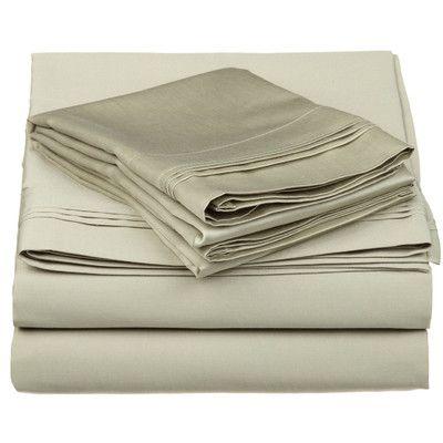 brayden studio superior 650 thread count 100 cotton sheet set color sage size