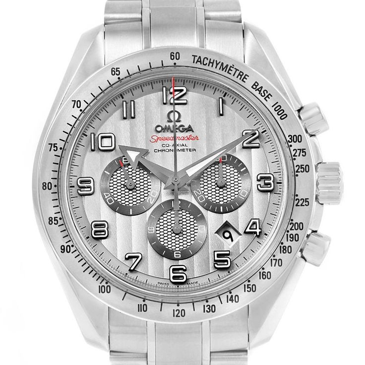 14878 Omega Speedmaster Broad Arrow Silver Dial Watch 321.10.44.50.02.001 Box Papers SwissWatchExpo