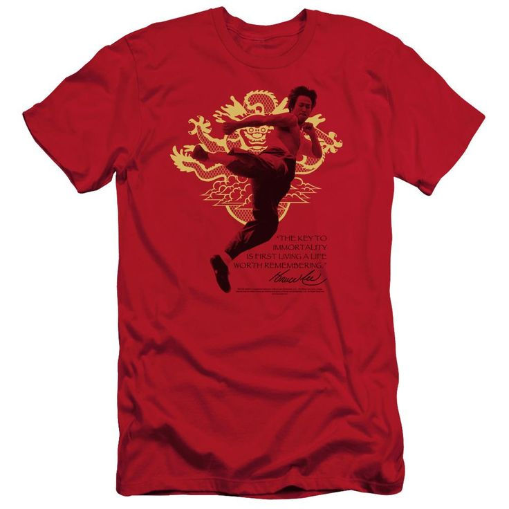 Bruce Lee - Immortal Dragon Short Sleeve Adult 30/1