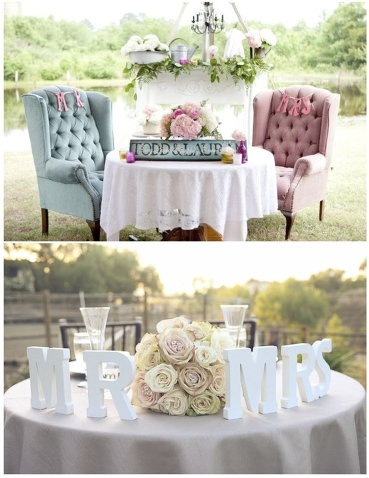 sweetheart tables just for the bride and groom i like the idea of