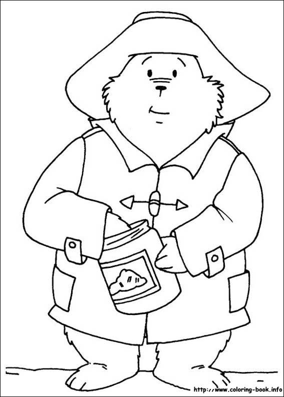 Paddington Bear coloring picture