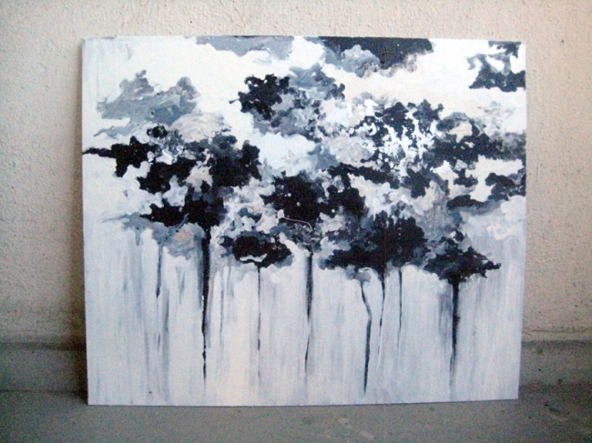 Your Forest Is Melting -painting by Piia Myller