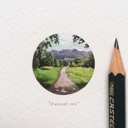 Day 225 : Alphen trail, Constantia. 28 x 28 mm. #365postcardsforants
