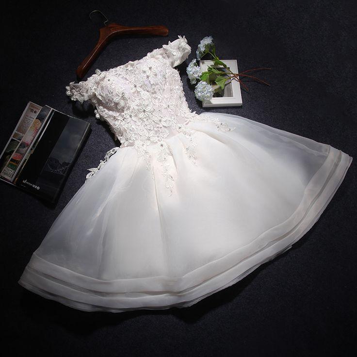 Gd609 High Quality Graduation Dress,Cute Graduation Dress,Short Graduation Dress,Organza PGraduation Dress,A-Line Prom Dress