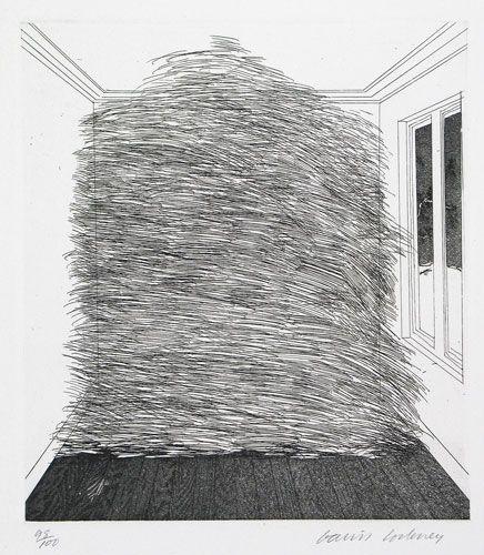 David Hockney, A Room Full of Straw, 1969
