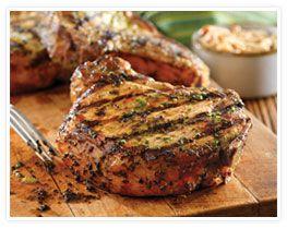 Grilled Pork Chops with Basil-Garlic Rub: Pork Recipes, Pork Dishes ...