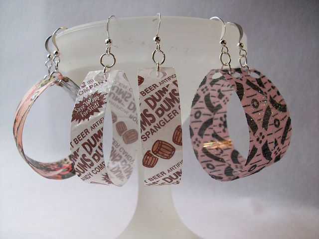 Recycled Bottle Earrings- Super Easy & Quick!