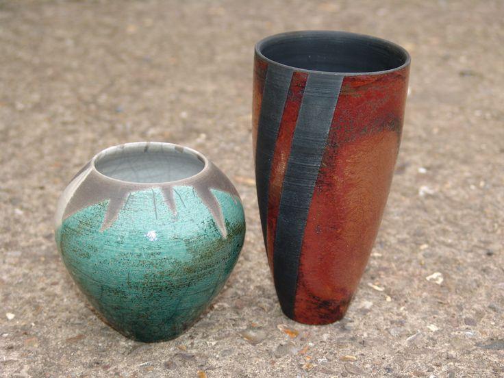 RAKU ware made by Gemma Dunn at Aylesford Pottery