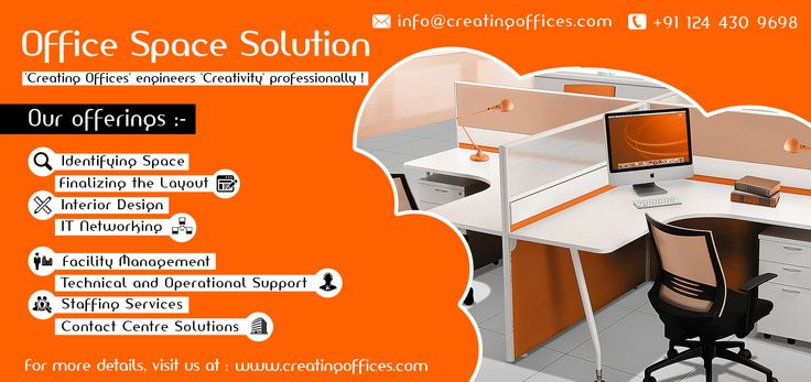 Choose office space solutions with #CreatingOffices to accomplish your business needs. We offer extensive solutions including everything from a single workstation to training rooms, conference rooms, reception, private cabins, etc. that are professionally designed, affordable and fully-furnished..!!
