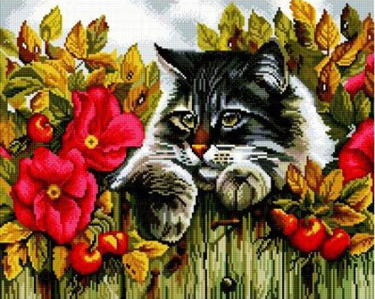 Пушистый кот Картины со стразами PaintBoy (Китай)