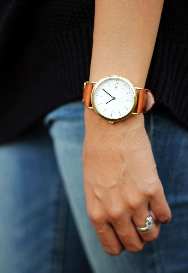 For me: brown leather band watch, silver or rose gold rim of face, any brand name/known or unknown is fine!