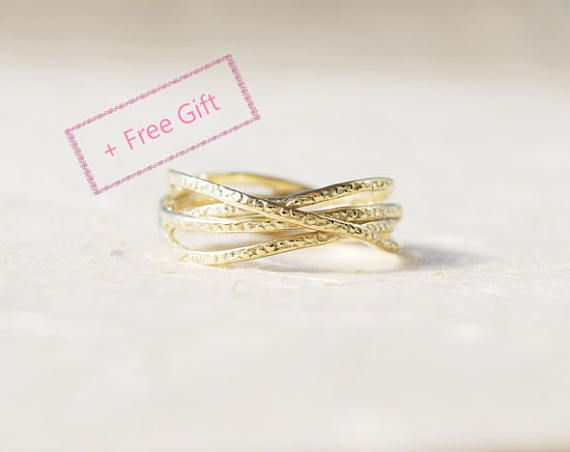 Unique Anniversary Ring, Unique Anniversary Gift For Her, Unique Gold Ring, Promise Ring, Gold Ring 14K, Gold Ring For Women, Birthday Gift