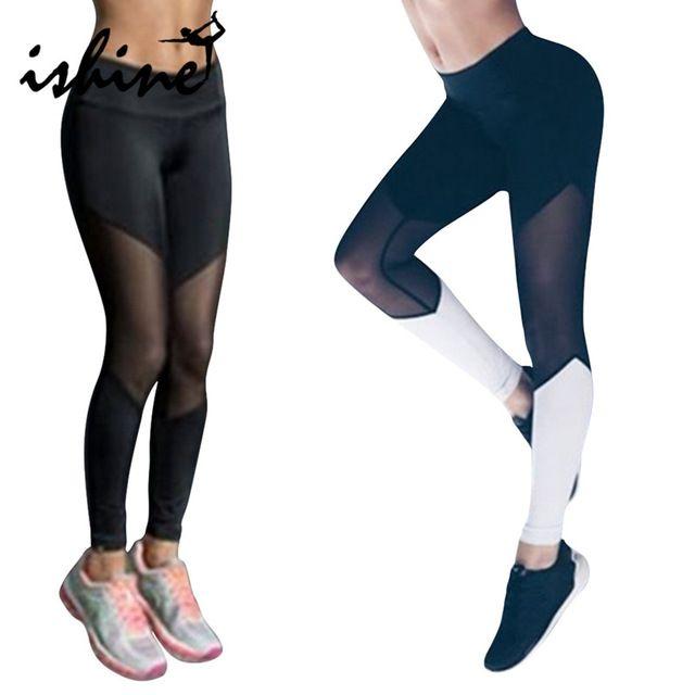 US $7.99 Women Sport Leggings Fitness Yoga Pants Black White Athletic Leggings Sport Tight Mallas Mujer Deportivas Gym Clothes Running