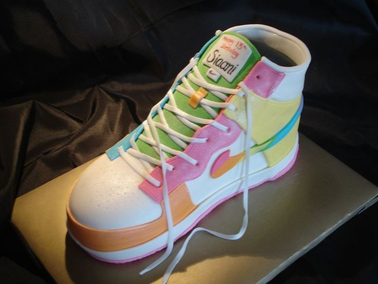13 birthday cakes for girls | nike dunk cake this cake was for a 13 year old girl who was having a ...