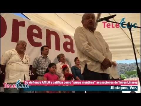 """Se defiende AMLO y califica como """"puras mentiras"""" acusaciones de Yunes Linares - Al Calor Político"""