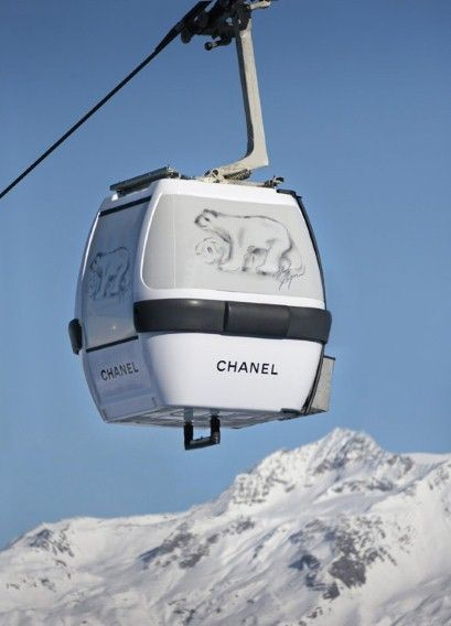 Chanel Cable Cars and Pop-Up Store In Courchevel