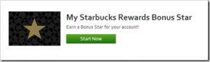 Free starbucks rewards bonus star code