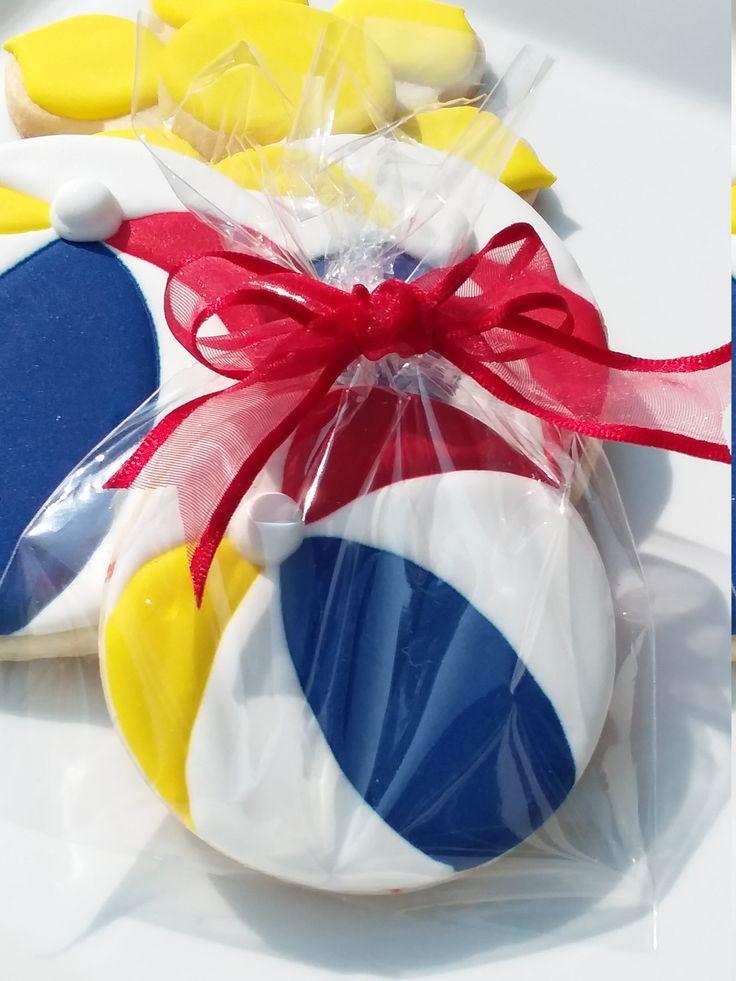 Beach Ball Cookies - Summertime Cookies, Beachball Cookies ...