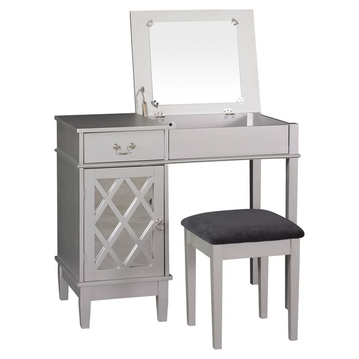 Lattice Bedroom Vanity Set   58036SIL 01 KD U