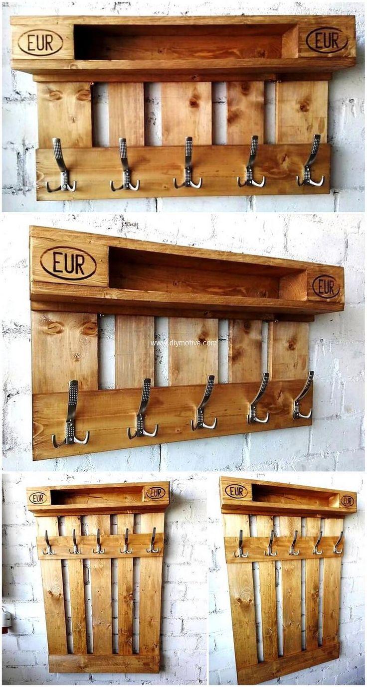 pallet hanger cum shelf idea