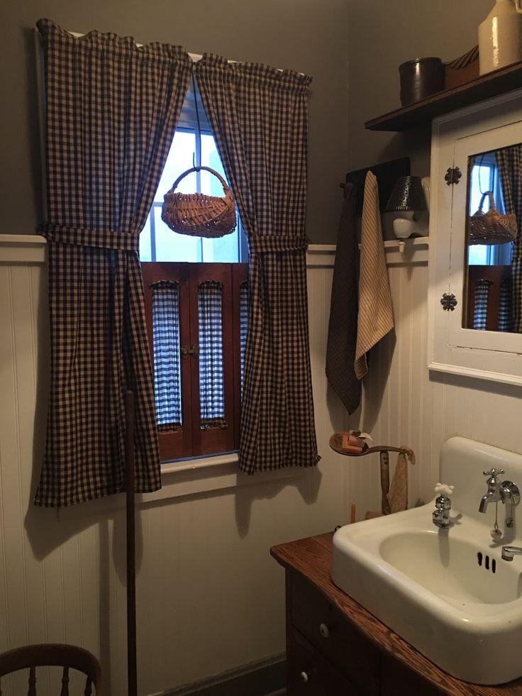 Primitive Country Bathrooms Farmhouse Baths Bathroom Things Laundry Rooms Dream Stuff