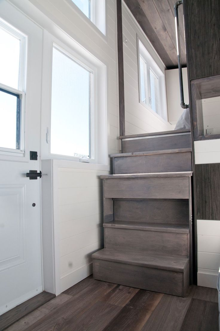 Sakura – Tiny House Swoon unusual part retractable/pull out  stairs