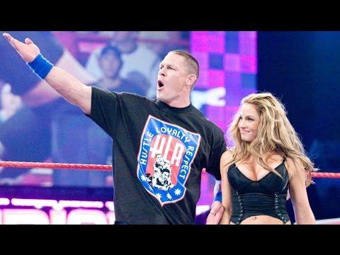 WWE John Cena and Trish Stratus vs Beth Phoenix and Santino - YouTube