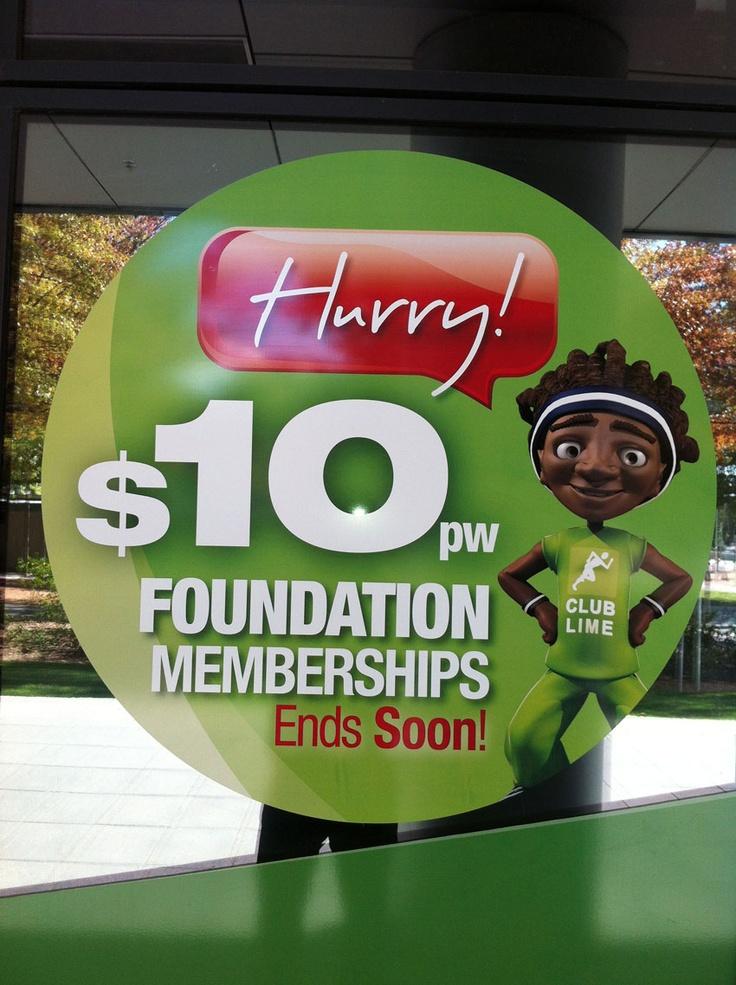 Club Lime - $10pw Foundation Membership - signage design & development
