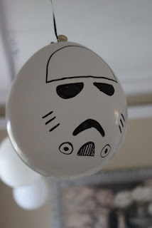 Kara's Creative Place: Star Wars Birthday Party- Storm Trooper Balloon