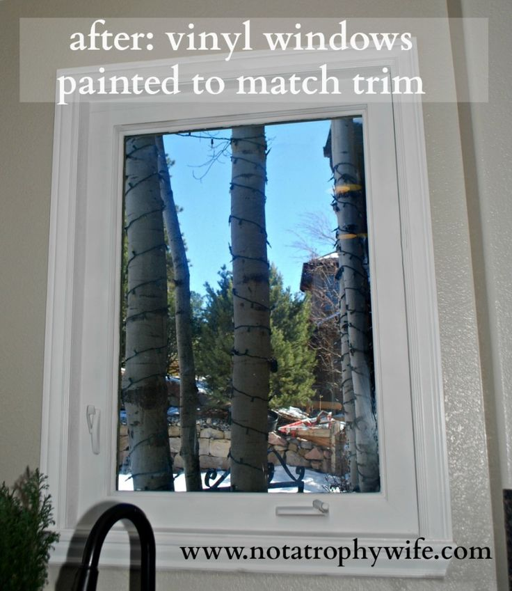 After Go Ahead And Paint Your Vinyl Windows Windows