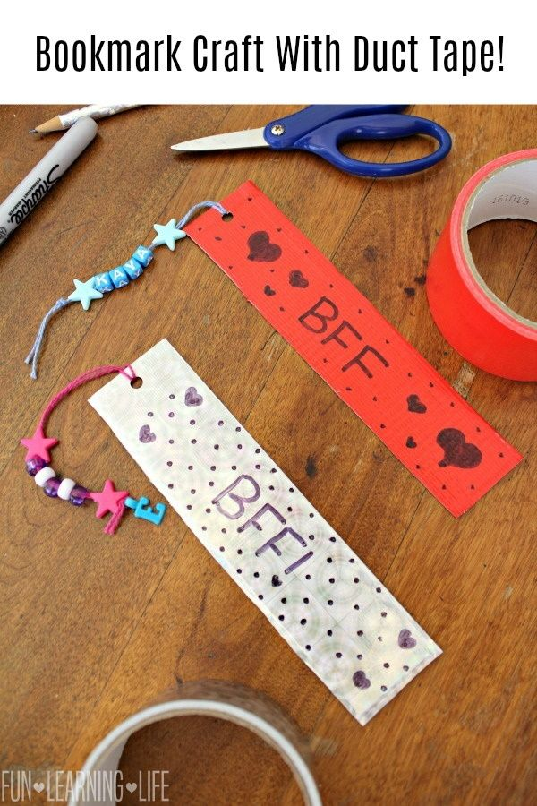 Bookmark Craft With Duct Tape Fun Learning Life In 2020