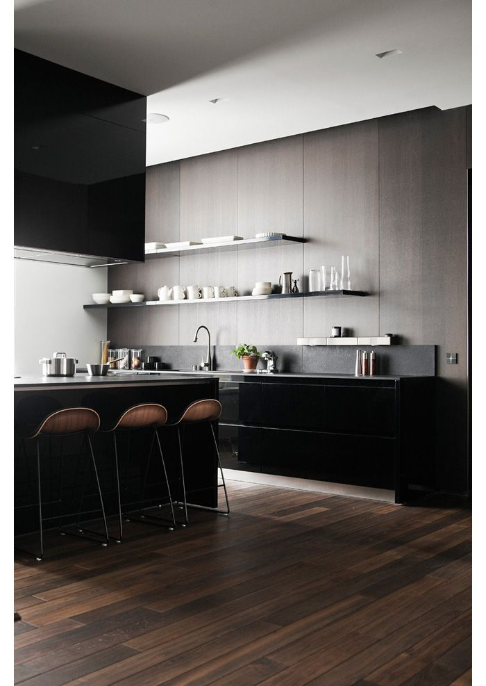 modern kitchen via nicole franzen - Modern Kitchen Flooring Ideas