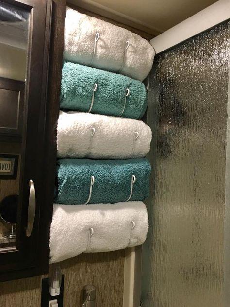 RV Renovation Camper Towel Rack RV Space Is Limited Make