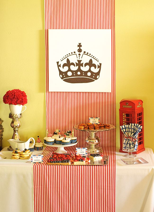 """London Calling"" 2nd birthday - great ideas for a British or Union Jack theme party!"