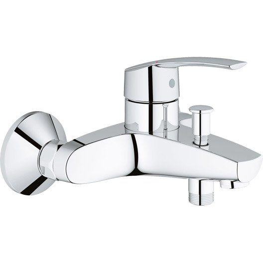 Mitigeur mécanique de baignoire chromé, GROHE Start v2