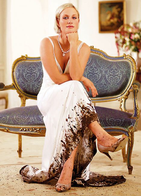 Zara Phillips MBE glamorous from the top up regal style sits effortlessly with that of a world champion sportswoman