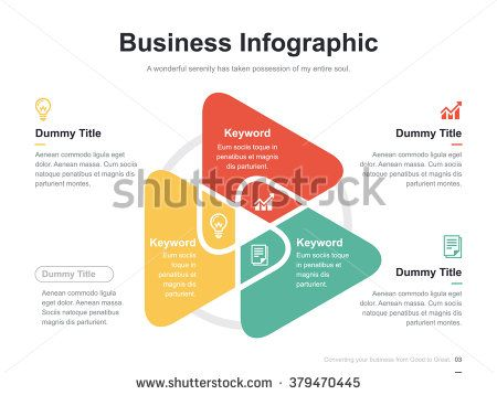 Flat Business Presentation Vector Slide Template With