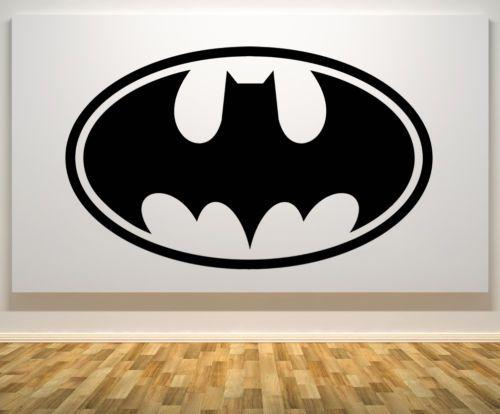 Batman-Logo-Comic-Book-Hero-DC-Childrens-Bedroom-Decal-Wall-Sticker-Picture