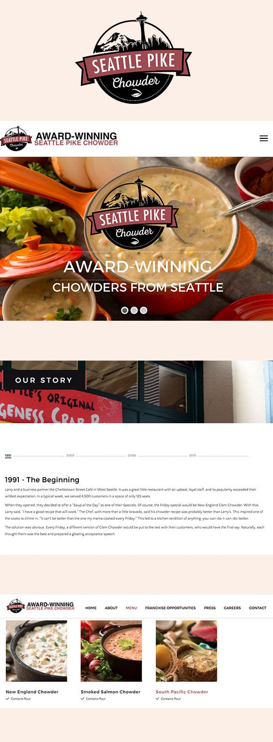 A concept site for an F&B website who specialises in award-winning chowder. [Not Live]