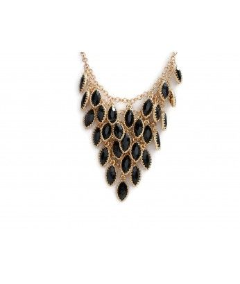 Gold necklace with black fish scales - GAIL http://beewhimsy.com/index.php?route=product/product&product_id=209