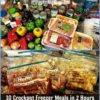 We are excited to share with you our 20 Freezer Meals in 4 Hours meal plan. This plan will allow you to have dinner planned for almost three weeks or more depending on your family size and if they like to eat leftovers! I love to save time in the kitchen so I can enjoy more moments with my boys. I also like to be prepared and know what I am serving for dinner so I am not spending time looking around for what I am going to make. When I freezer cook I save both time and money.