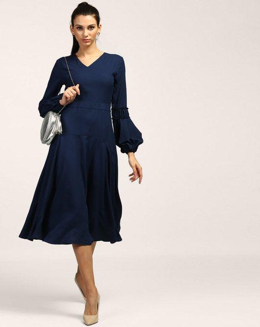 6e9e505e27f Blue Regina Midi Dress