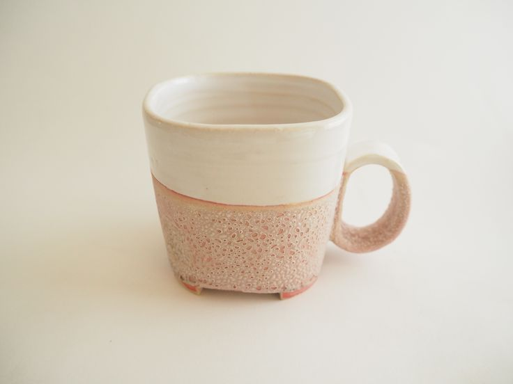 rosa square cup by Helle Bovbjerg